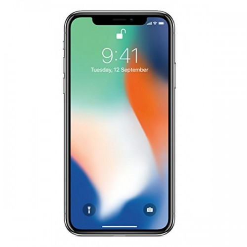 Apple iPhone X, 64GB, 4G LTE with FaceTime [Silver]