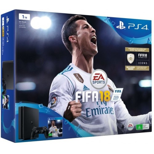 Sony PlayStation 4 Slim 1 TB With FIFA 18 [Black]