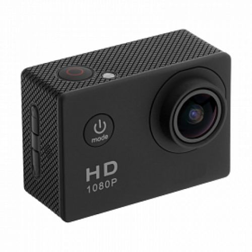 Full HD 1080p, Waterproof Sports Camera, Black