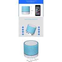 Speaker Bluetooth Light system and receive mobile phone calls and numerous uses 576-2 [Blue]