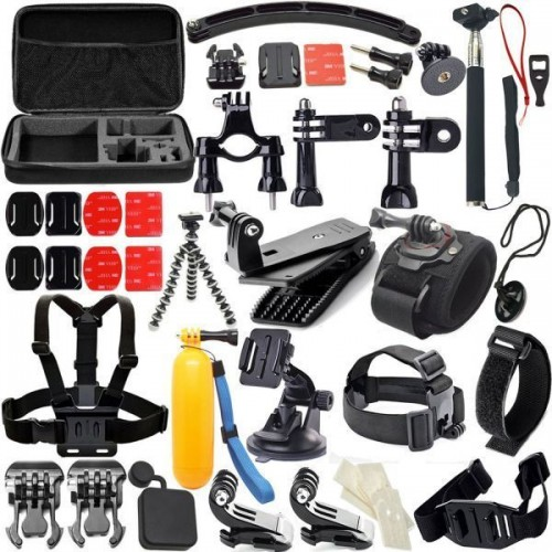 Action Camera Accessories 50-In-1 Outdoor Sports Kit for GoPro Hero4/3/2/1Common Camcorder Bundles