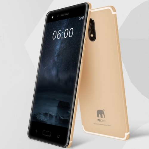 3 IN 1 Combo - Mione N66 Smartphone, 3GB Ram, 32GB, 4G LTE [Gold] + Twin Wireless Earbuds + Artison Android Smart watch