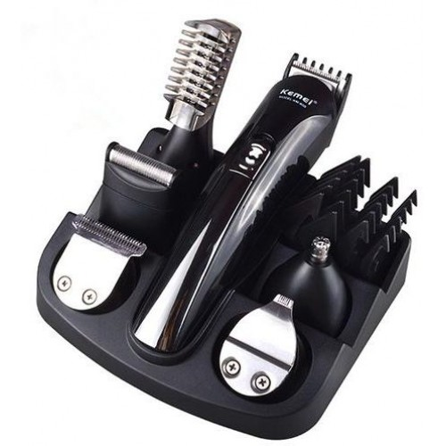 [Kemei 6-In-1 Grooming Kit Hair Trimmer & Clippers & Shaver for Man KM-600]