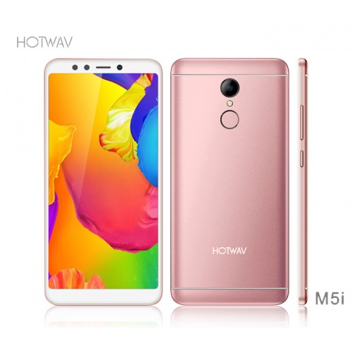"Hotwav M5i, 4GB RAM+64GB Storage, 5.7"" Inch, Finger-Print Unlock, Face ID, 4G LTE, Rose Gold"