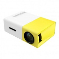 YG-300 LCD Mini Portable Projector with USB/SD/AV/HDMI Slots Home Entertainment Projector