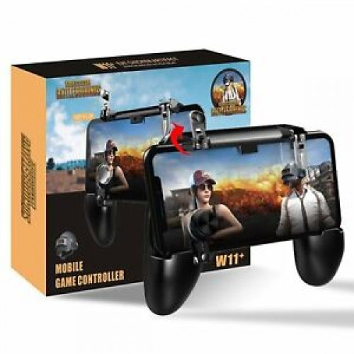 2 In 1 W11 All in One PUBG Mobile Game Controller With PUBG Cotton T-shirt Combo