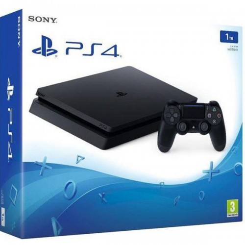 Sony PlayStation 4, Slim 1TB, with Controller [Jet Black]