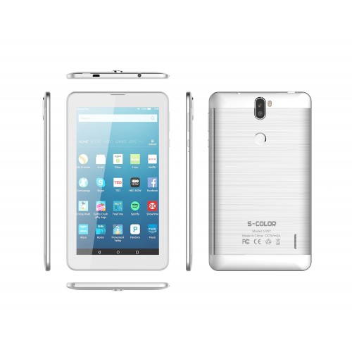 S-Color U707, Dual SIM, 2GB, 16GB, 4G Android 7.0 [Silver]