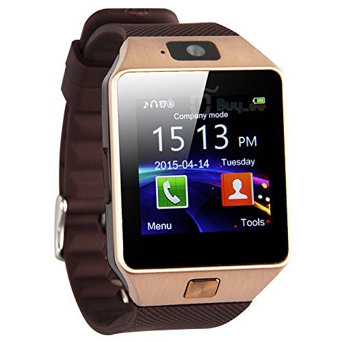 MidSun M9 Smart Watch with SIM Slot, Camera & Bluetooth [Gold]