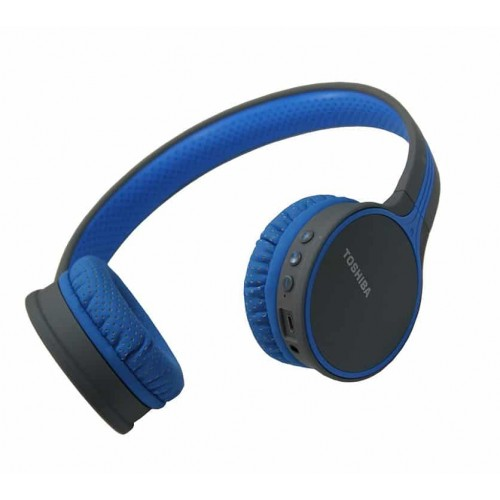Toshiba RZE-BT180H Stereo  Headphones Wireless-and-Wired Blue