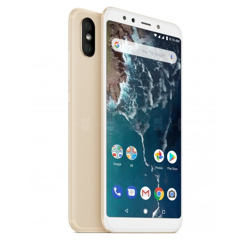 Xiaomi Mi A2 Dual Sim , Dual Camera, - 64GB, 4GB RAM, 4G LTE, Gold [Global version]