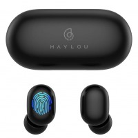 Haylou GT1 TWS Fingerprint Touch Bluetooth Earphones, HD Stereo Wireless Headphones - Black Color