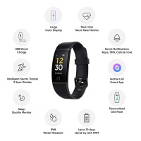 Realme Band 1- Full Colour Screen with Touchkey, in-Built USB Charging, IP68 Water Resistant