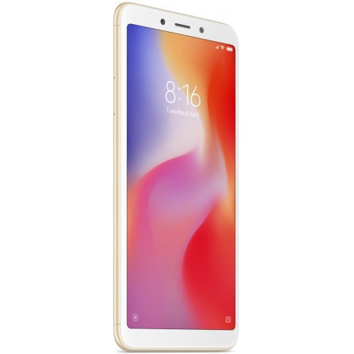 Xiaomi Redmi 6 Dual Sim, 32GB, 3GB RAM, 4G LTE, Gold [International version]