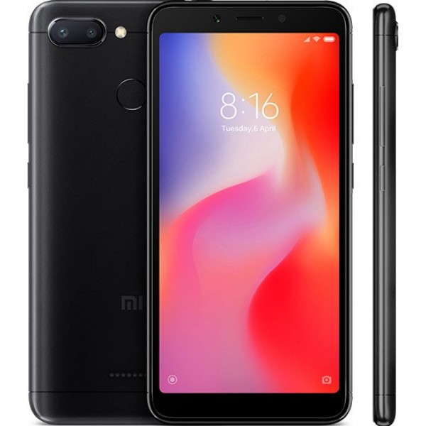 Xiaomi Redmi 6 Dual Sim, 32GB, 3GB RAM, 4G LTE, Black [International version]